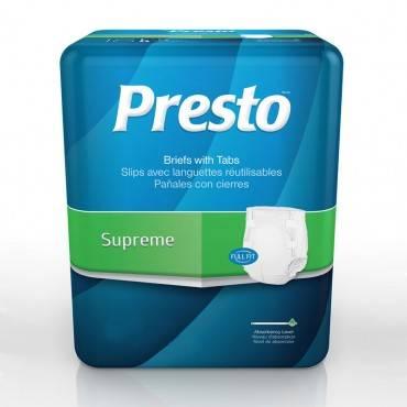 """Presto Supreme Brief, Large, 45""""-58"""" Part No. Abb21040 (72/case)"""