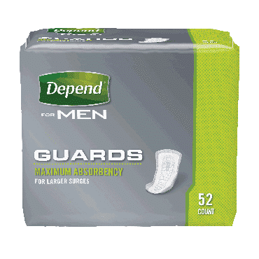"Depend guard for men 12"" part no. 13792 (52/package)"