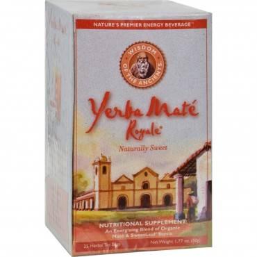 Wisdom Natural Organic Yerba Mate Royale Naturally Sweet - 25 Tea Bags