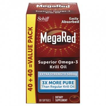 Megared  EXTRA STRENGTH OMEGA-3 KRILL OIL SOFTGEL, 80 SOFTGELS 98093EA 1 Each