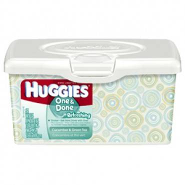 Huggies One And Done Refreshing Baby Wipes Tub Part No. 39333 (1/ea)
