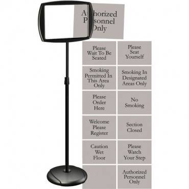 MasterVision Interchangeable Floor Pedestal Sign (EA/EACH)