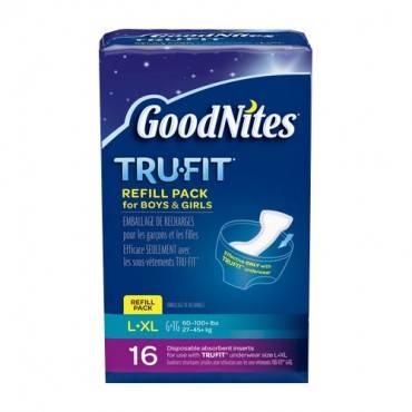 Goodnites Tru-Fit Durable Underwear Refills Unisex Small/Medium (54/Case)