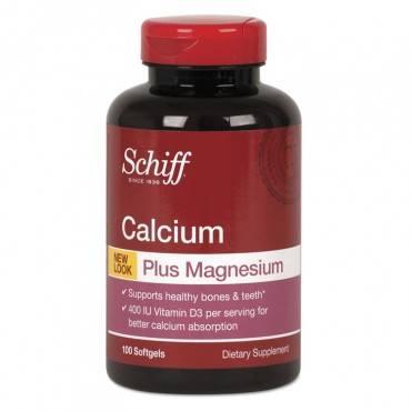 Schiff  Calcium, Magnesium With Vitamin D3 Softgel, 100 Count