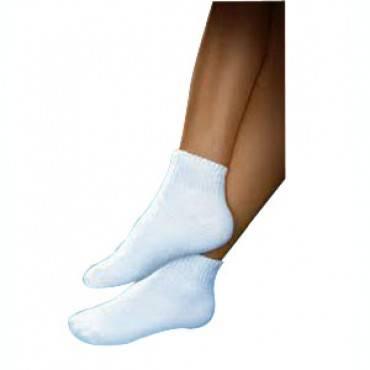 Sensifoot Mini-crew Length Diabetic Sock Large, White Part No. 110878 (1/pair)