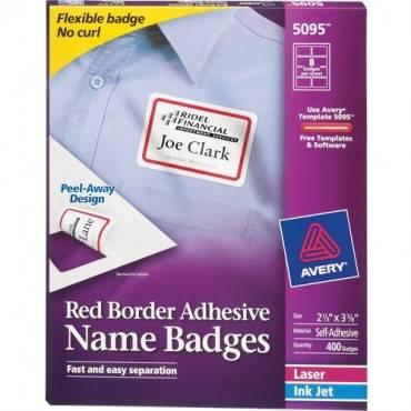 Avery® Flexible Adhesive Name Badge Labels (BX/BOX)