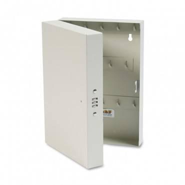 "Hook-style Key Cabinet, 28-key, Steel, Putty, 7-3/4""w X 3-1/4""d X 11-1/2""h"