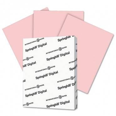 Springhill  Digital Vellum Bristol Color Cover, 67 Lb, 8 1/2 X 11, Pink, 250 Sheets/Pack