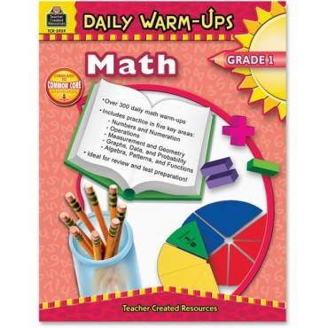 Teacher Created Resources Gr 1 Math Daily Warm-Ups Book Education Printed Book for Mathematics (EA/EACH)