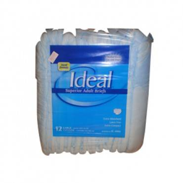 """Ideal Brands Trim Mat Adult Brief Large 44"""" - 58"""" Part No. Ic-4066 (18/package)"""