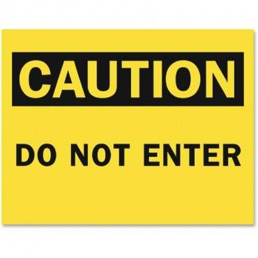 Tarifold Safety Sign Inserts-Caution Do Not Enter (PK/PACKAGE)