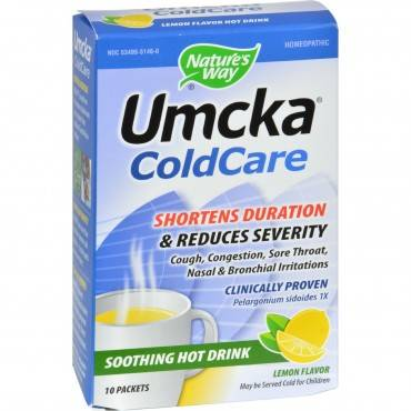 Nature's Way - Umcka Coldcare Soothing Hot Drink Lemon - 10 Packets