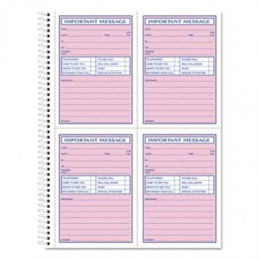Telephone Message Book, Fax/mobile Section, 5 1/2 X 3 3/16, Two-part, 400/book