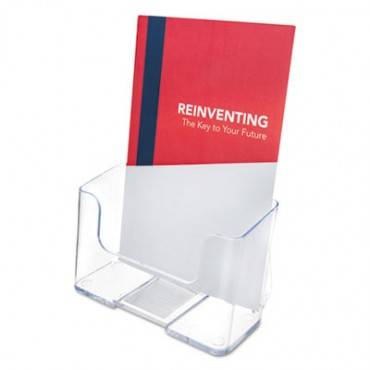 Docuholder For Countertop/wall-mount, Booklet Size, 6 1/2 X 7 3/4 X 3 3/4, Clear