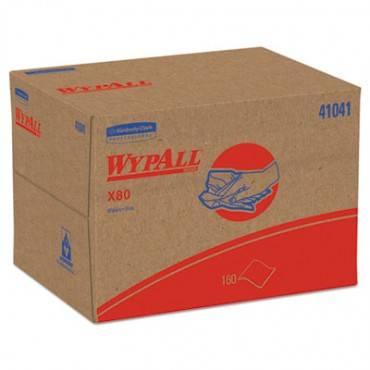 Wypall  X80 Cloths, Brag Box, Hydroknit, Blue, 12 1/2 X 16 4/5, 160 Wipers/Carton