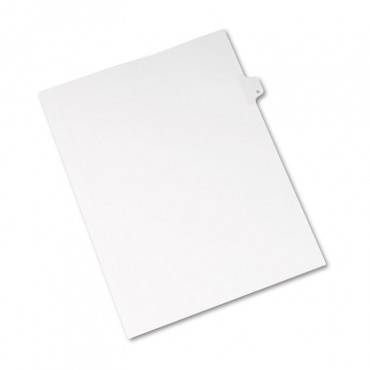 Preprinted Legal Exhibit Side Tab Index Dividers, Allstate Style, 26-tab, G, 11 X 8.5, White, 25/pack