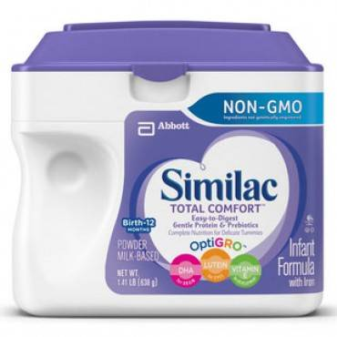 Similac total comfort infant (638 gram) powder, unflavored part no. 63012 (1/ea)