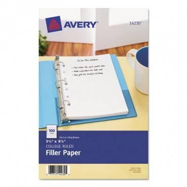 Mini Size Binder Filler Paper, 7-hole, 5.5 X 8.5, Narrow Rule, 100/pack