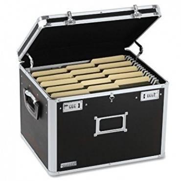 Locking File Chest, Letter/legal, 17 1/2 X 14 X 12 1/2, Black