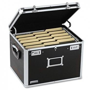 Vaultz  Locking File Chest, Letter/Legal, 17 1/2 X 14 X 12 1/2, Black