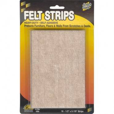 Master Mfg. Co Scratch Guard® Felt Strips, Self-adhesive (PK/PACKAGE)