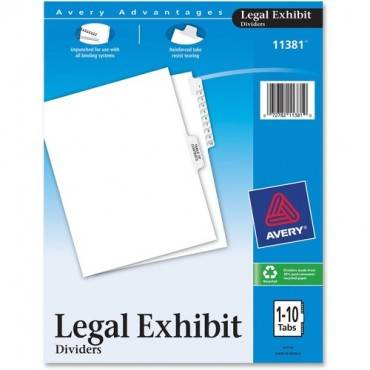 Avery® Premium Collated Legal Exhibit Divider Sets - Avery Style (ST/SET)