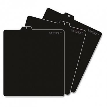Vaultz  A-Z Cd File Guides, 5 X 5 3/4, Black