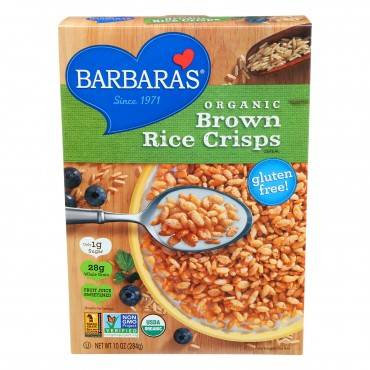 Barbara's Bakery - Brown Rice Crisps - Fruit Juice Sweetened Cereal - Case Of 6 - 10 Oz.