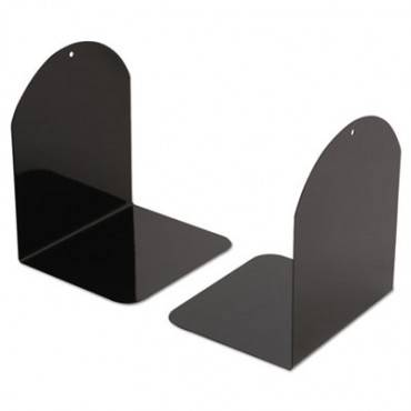 Universal  Magnetic Bookends, 6 X 5 X 7, Metal, Black