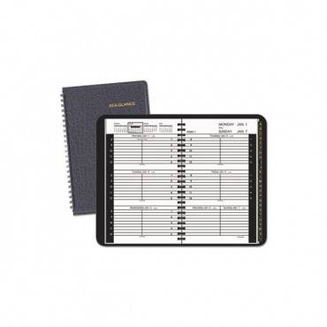 Weekly Appointment Book, Hourly Appt, Phone/address Tabs, 8 X 4 7/8, Black, 2020