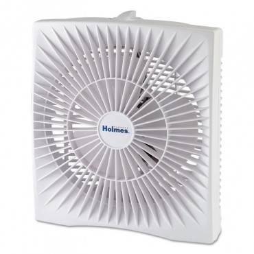 "10"" Personal Size Box Fan, Plastic, White"