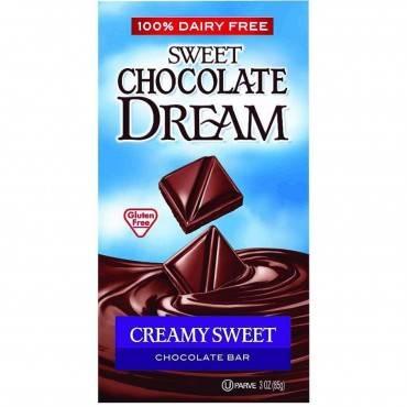 Dream Bar Chocolate Bars - 100 Percent Dairy Free - Sweet Chocolate - Creamy Sweet - 3 oz Bars - Cas