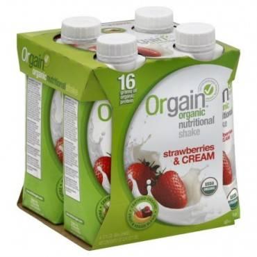 Orgain Nut Shake - Organic - Strawberry & Cream - Case Of 3 - 4/11 Fl Oz