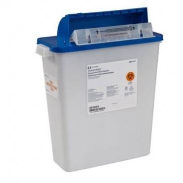 Sharpsafety Pharmaceutical Waste Container, Counterbalance Lid, 3 Gallon (1/Each)
