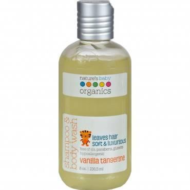 Nature's Baby Organics Shampoo and Body Wash Vanilla Tangerine - 8 fl oz