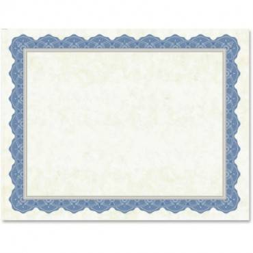 Geographics Drama Blue Border Blank Certificates (PK/PACKAGE)