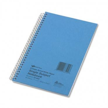Single-subject Wirebound Notebooks, 1 Subject, Medium/college Rule, Blue Cover, 7.75 X 5, 80 Sheets