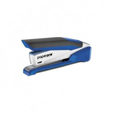 Inpower Spring-powered Premium Desktop Stapler, 28-sheet Capacity, Blue/silver