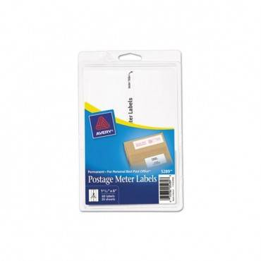 Postage Meter Labels For Personal Post Office, 1.78 X 6, White, 2/sheet, 30 Sheets/pack