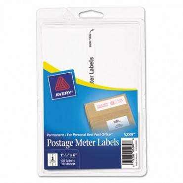 Postage Meter Labels For Personal Post Office E700, 1 25/32 X 6, White, 60/pack