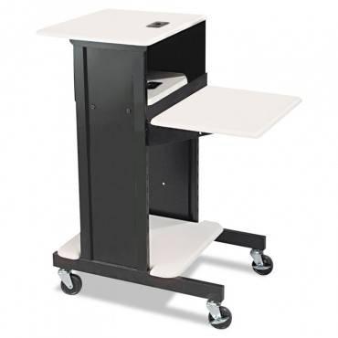 Adjustable Presentation Cart, 18w X 30d X 40-1/4h, Black/gray