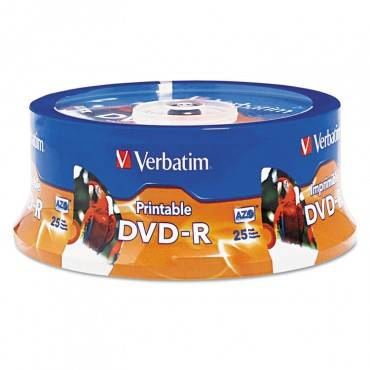 Dvd-R Disc, 4.7 Gb, 16x, White, 25/pk