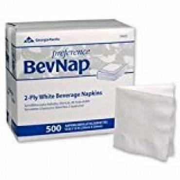 Preference BevNap 2-Ply Beverage Napkins White