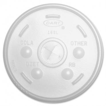 Dart Translucent Slotted Foam Cup Lids (PK/PACKAGE)