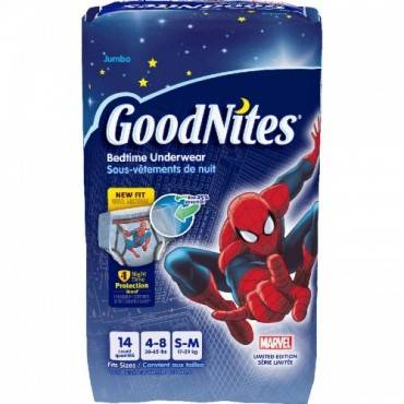 Goodnites Youth Pants, Small/medium Boy, Jumbo Pack Part No. 41313 (14/package)
