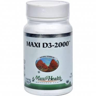 Maxi Health Kosher Vitamins Maxi D3 2000 - 2000 Iu - 90 Tablets