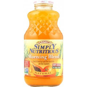 R.W. Knudsen Simply Nutritious Juice - Morning Blend - Case of 1 - 32 Fl oz.