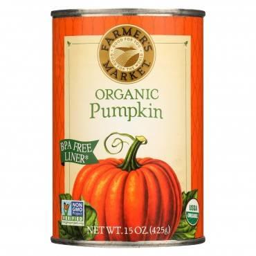 Farmer's Market 100% Organic Pumpkin - Canned - 15 oz