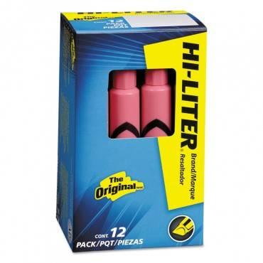 Hi-liter Desk-style Highlighters, Chisel Tip, Light Pink, Dozen