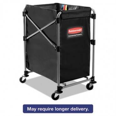 Collapsible X-Cart, Steel, Four Bushel Cart, 20 1/3w X 24 1/10d, Black/silver
